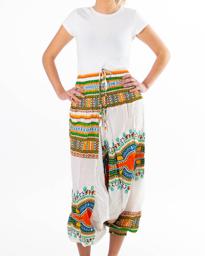 Haremsbukse - med fargedetaljer - yoga