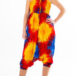 Batikk haremsbukse med ulike farger