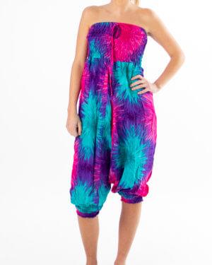 Batikk haremsbukser - multicolor